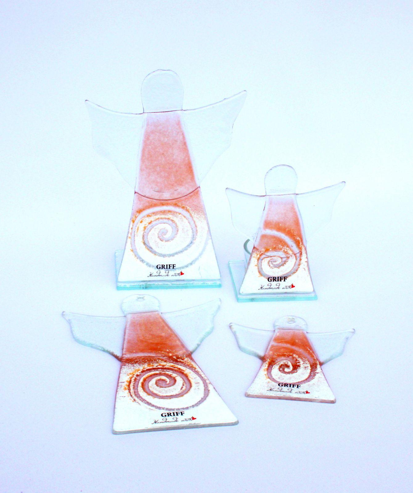 Dekorace do bytu Skleněný dekorační svícen na čajovou svíčku GRIFFglass originální, skleněné dekorace do bytu
